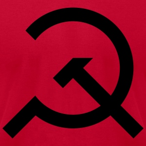 Hammer & Sickle Design - Men's T-Shirt by American Apparel