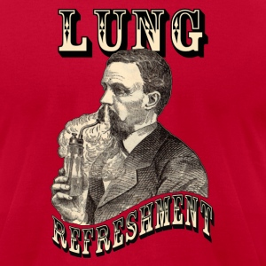 Lung Refreshment Long Sleeve Shirts - Men's T-Shirt by American Apparel