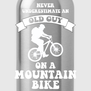 Never underestimate an old guy on a mountain bike - Water Bottle