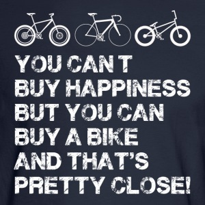 Happiness is a bike - Men's Long Sleeve T-Shirt