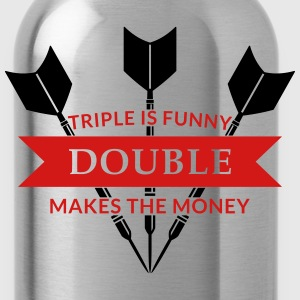 triple is funny ... T-Shirts - Water Bottle