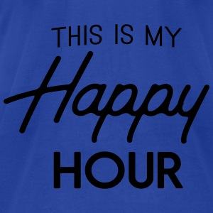 This is my happy hour Tanks - Men's T-Shirt by American Apparel
