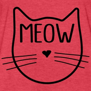 Cute Meow Face Tanks - Fitted Cotton/Poly T-Shirt by Next Level