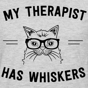 My therapist has whiskers T-Shirts - Men's Premium Long Sleeve T-Shirt