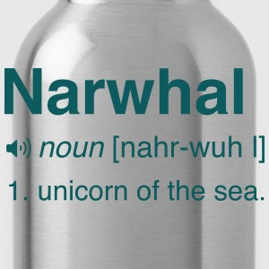 Narwhal. Unicorn of the sea T-Shirts - Water Bottle