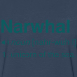 Narwhal. Unicorn of the sea T-Shirts - Men's Premium Long Sleeve T-Shirt