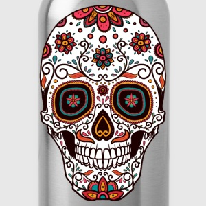 Sugar Skull - Day of the Dead #7 Long Sleeve Shirts - Water Bottle