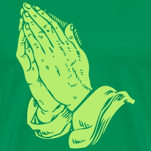Automatic Praying Hands - Men's Premium T-Shirt