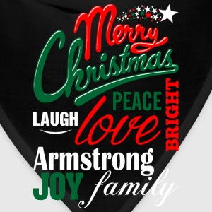 Merry Christmas Laugh Peace Love Bright Joy Armstr T-Shirts - Bandana