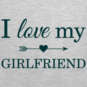 I Love My Girlfriend Hoodies - Men's Premium Tank