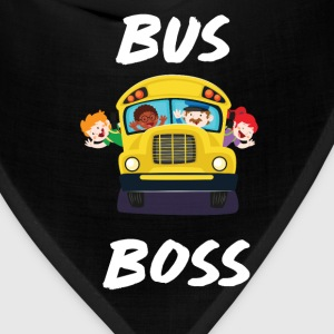 Bus Boss School Bus Driver Monitor T-Shirt T-Shirts - Bandana