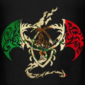 MEXICO FLAG DRAGON BACK Hoodies - Men's T-Shirt