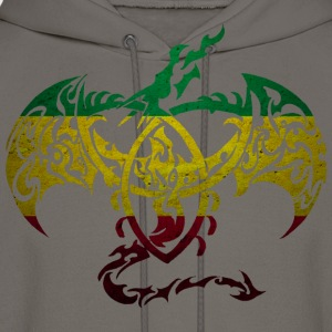 RASTA FLAG DRAGON BACK T-Shirts - Men's Hoodie