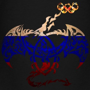 RUSSIA FLAG DRAGON FIRE Kids' Shirts - Toddler Premium T-Shirt