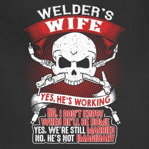 Proud Wife Of An Awesome Welder T-Shirt - Adjustable Apron