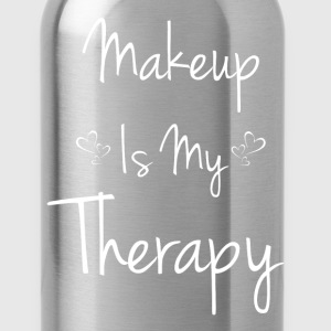 Makeup is My Therapy Beautician Cosmetics T-Shirt T-Shirts - Water Bottle