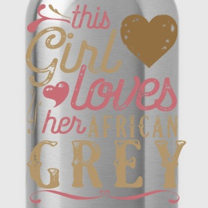 This Girl Loves Her African Grey Parrot T-Shirts - Water Bottle