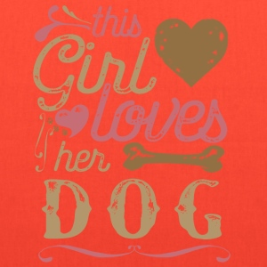 This Girl Loves Her Dog T-Shirts - Tote Bag