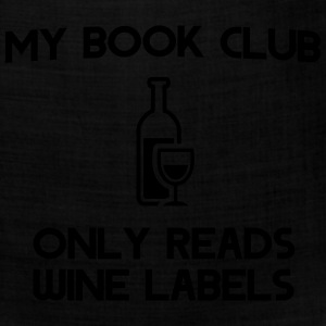My book club only reads wine labels T-Shirts - Bandana