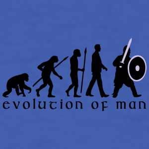 evolution_of_man_knight_with_sword_07201 Mugs & Drinkware - Men's T-Shirt