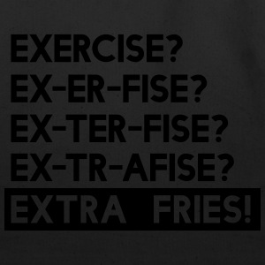 Exercise is Extra Fries Tanks - Eco-Friendly Cotton Tote