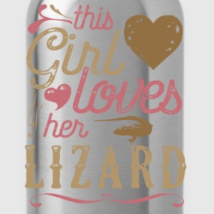 This Girl Loves Her Lizard Reptile T-Shirts - Water Bottle