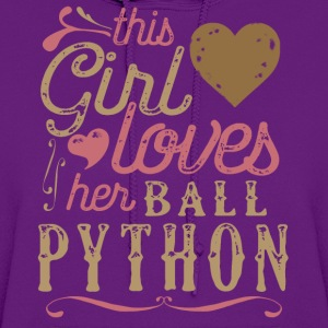This Girl Loves Her Ball Python Snake Reptile T-Shirts - Women's Hoodie