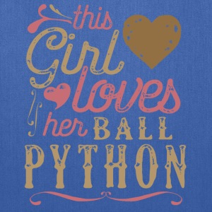 This Girl Loves Her Ball Python Snake Reptile T-Shirts - Tote Bag