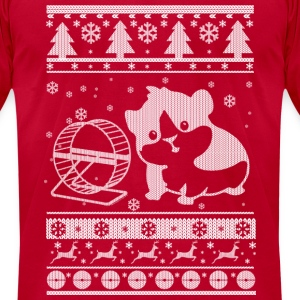 Guinea Pig Ugly Christmas Long Sleeve Shirts - Men's T-Shirt by American Apparel