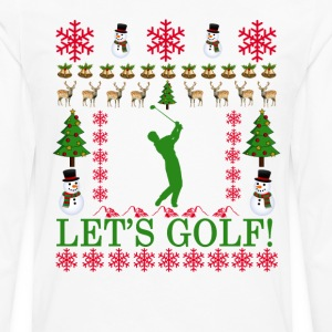 golf_ugly_christmas_sweater_ - Men's Premium Long Sleeve T-Shirt