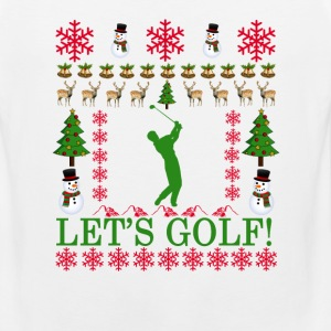 golf_ugly_christmas_sweater_ - Men's Premium Tank
