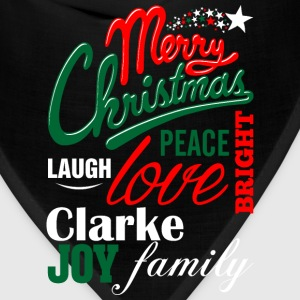 Merry Christmas Laugh Peace Love Bright Joy Clarke T-Shirts - Bandana