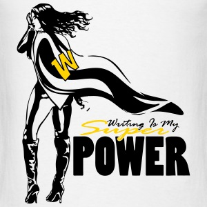 Writing Is My Superpower - Men's T-Shirt