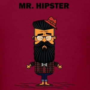 Mister Hipster Hoodies - Men's T-Shirt