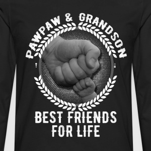 Pawpaw And Grandson Best Friends For Life T-Shirts - Men's Premium Long Sleeve T-Shirt