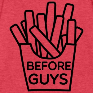 Fries before guys Tanks - Fitted Cotton/Poly T-Shirt by Next Level