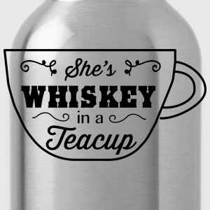 She's whiskey in a teacup T-Shirts - Water Bottle