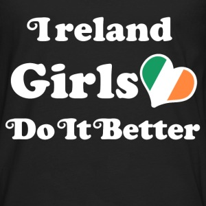 ireland girl 111.png T-Shirts - Men's Premium Long Sleeve T-Shirt