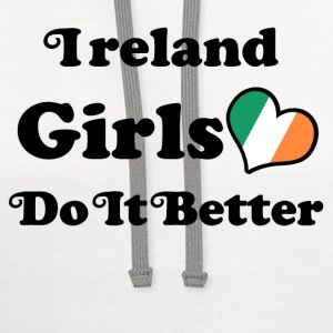 ireland girl 117878.png T-Shirts - Contrast Hoodie