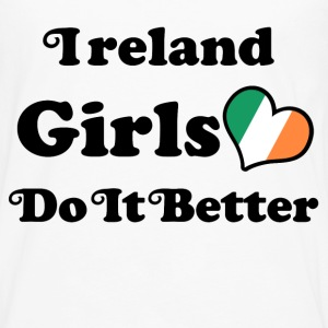 ireland girl 117878.png T-Shirts - Men's Premium Long Sleeve T-Shirt