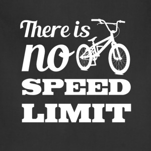 There is No Speed Limit Graphic Bicycle T-shirt T-Shirts - Adjustable Apron