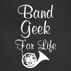 Band Geek for Life Graphic French Horn Music Shirt T-Shirts - Adjustable Apron