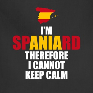I'm Spaniard Therefore I Cannot Keep Calm T-Shirt T-Shirts - Adjustable Apron