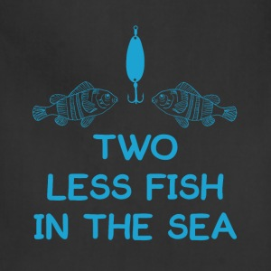 Two Less Fish in Sea Romantic Fisherman T-Shirt T-Shirts - Adjustable Apron