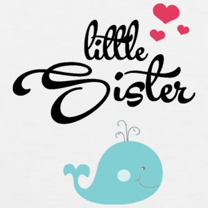 Little Sister with Cute Wale Kids' Shirts - Men's Premium Tank