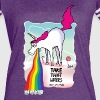 Unicorn vomiting rainbow T-Shirts - Women's Vintage Sport T-Shirt