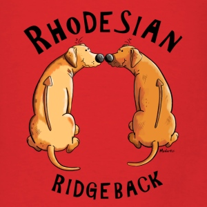 Funny Rhodesian Ridgeback Cartoon Bags & backpacks - Men's T-Shirt