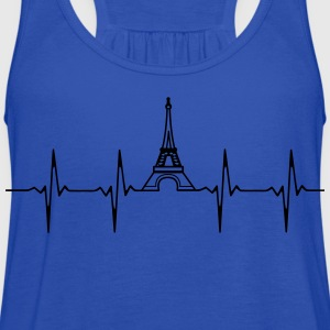 Eiffel Tower Heartbeat shirt - Women's Flowy Tank Top by Bella