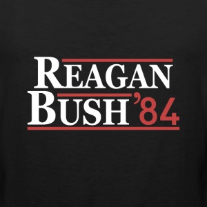 Vintage 80s Reagan Bush 84 Republican Political - Men's Premium Tank