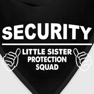 Brother - Little Sister Protection Squad Baby Bodysuits - Bandana